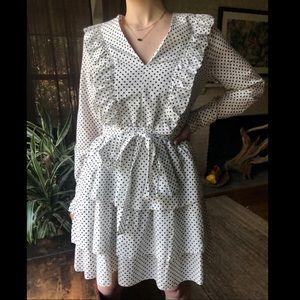 Robert Rodriguez l/s polka dot cotton mini dress 2